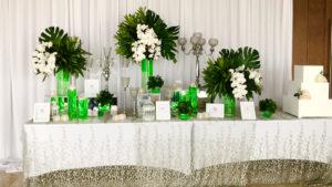 trang trí hoa màu trắng